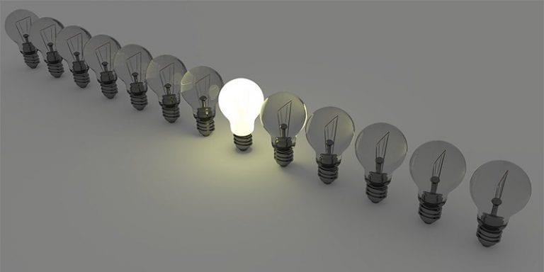 Brandend lampje